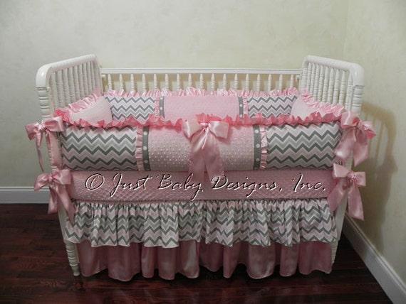 Baby Crib Bedding Set Angelica Baby Girl By BabyBeddingbyJBD