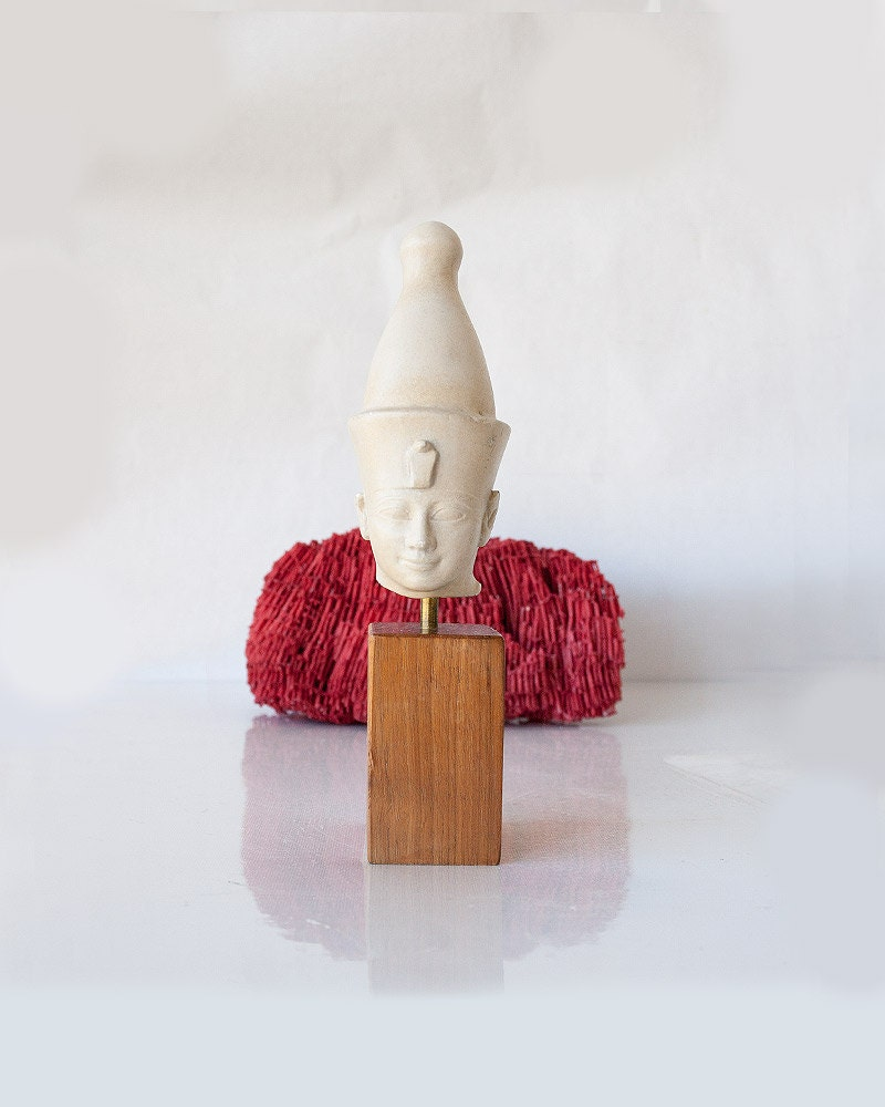 vintage miniature egyptian head statue by sadrosetta on etsy