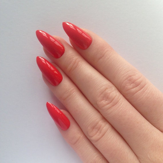 orange stiletto nails nail designs nail art by