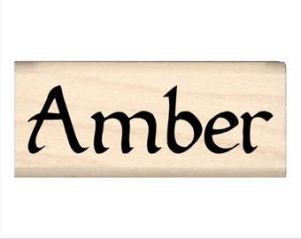 Amber - Name Rubber Stamp for Kids