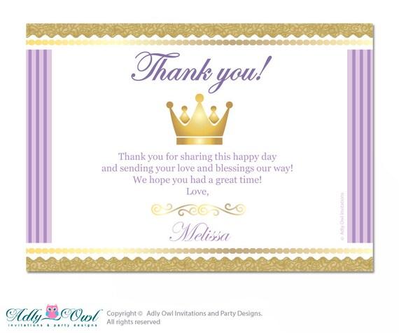 Royal Princess Thank You Card With Personalization Royal