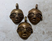 African Brass Face Pendants