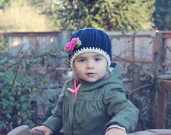 Chunky crochet girls hat