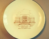 1972 Order of Rainbows for Girls Golden Anniversary plate