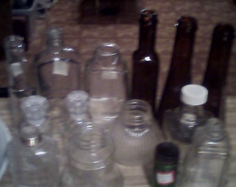 assorted collectiable bottles