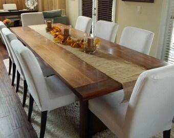 Popular items for table de bois dur on etsy - Table avec treteau ...