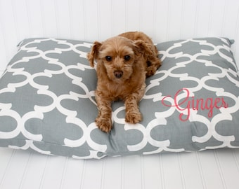 Dog Bed Cover - Personalized Dog Pillow Cover - Pet Bed Cover - Monogram Pet Bed - Pet Duvet Cover