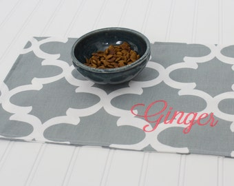 Personalized Pet Mat - Placemat for your Dog or Cat's Bowl - ALL SIZES