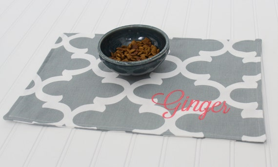 Personalized Pet Mat Placemat for your Dog or Cat's Bowl
