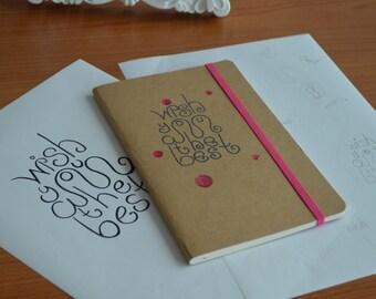 Handwritten digital lettering typography