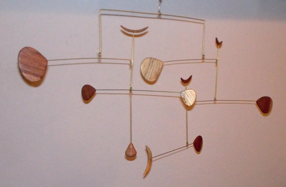 retro calder inspired mid century modern wood component On mid century mobel