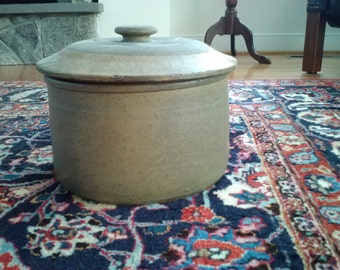 Antique Stoneware Crock with Lid