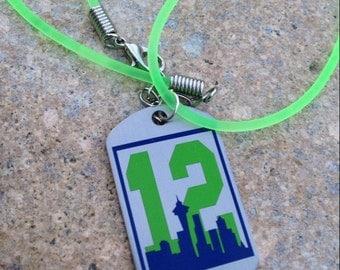 Seahawks Inspired Necklace - Neon Fan