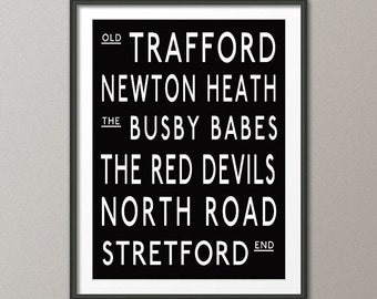 Manchester United Subway Print Poster