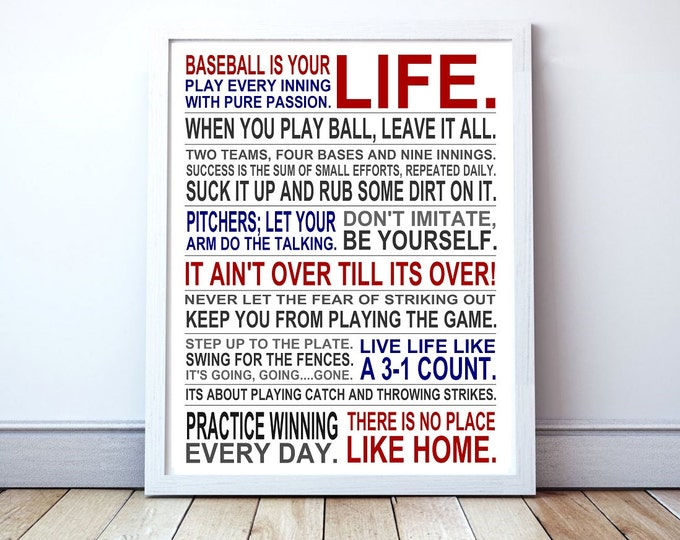 Baseball Is Your Life - Custom Manifesto Poster Print