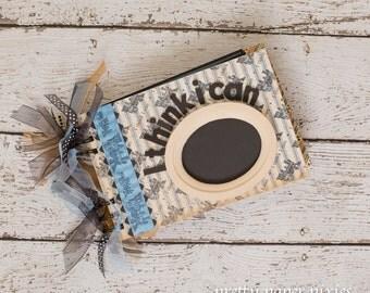 PRE-MADE I Think I Can Album - Premade Keepsake Scrapbook - Boy Album -Birthday Gift