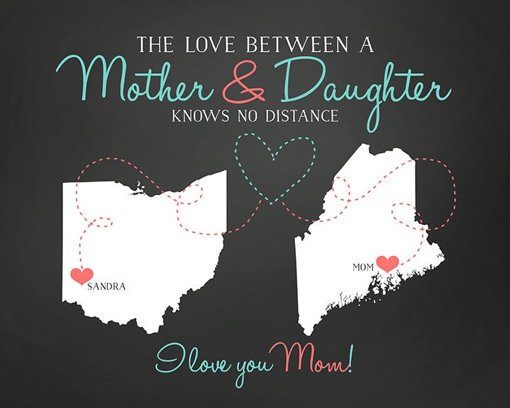 Mom Gift For Mother Long Distance Quote By WanderingFables