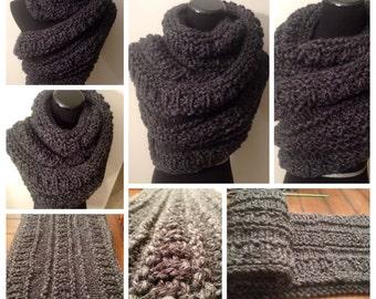 Katniss Super chunky knit wrap/cowl