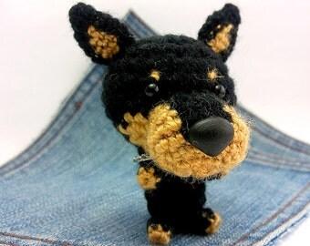 Amigurumi Doberman Pinscher, crochet Doberman Pinscher.