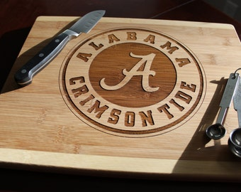 Alabama Cutting Board with Gift Box - Gameday, Tailgating, Crimson, Football