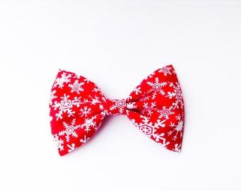 Snowflakes bow christmas bow bow tie