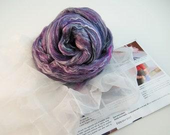 Nuno felting Scarf Kit,  Color: Juniper