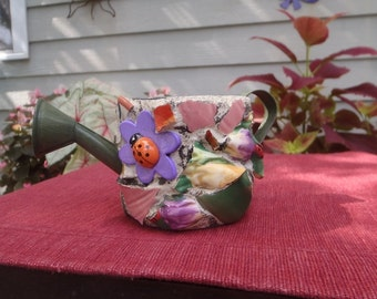 Tiny Mosaic Watering Can