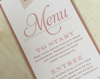 Vintage Wedding Menus and Place Cards // Simple ans Elegant // Purchase this Deposit to Get Started