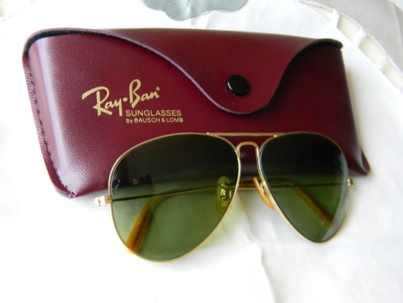 ray ban made in usa  True Vintage Rare 1st Generation Ray Ban B\u0026L Aviator 58 mm WW