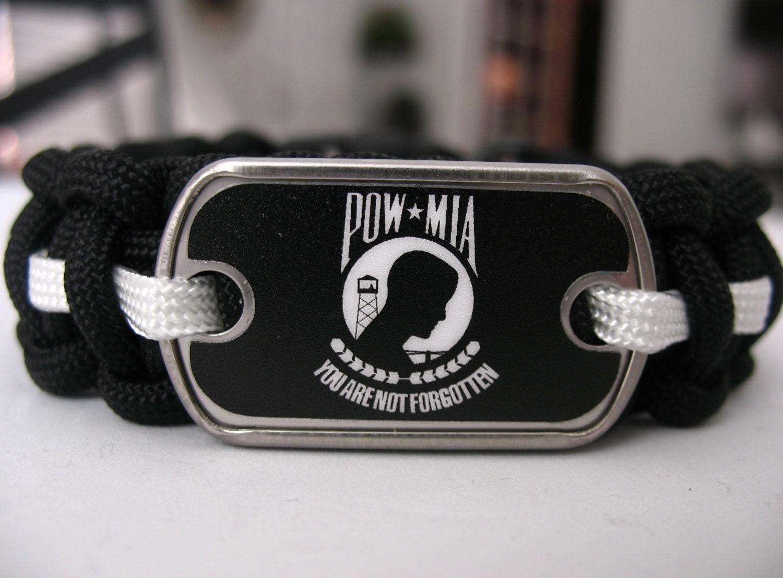 pow tag paracord bracelet