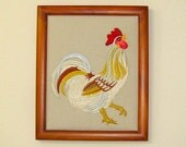 Embroidered Rooster Frame...