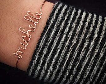 Personalized Wire Bracelet