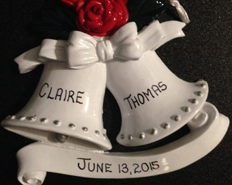 Personalized  Wedding Bells Ornaments