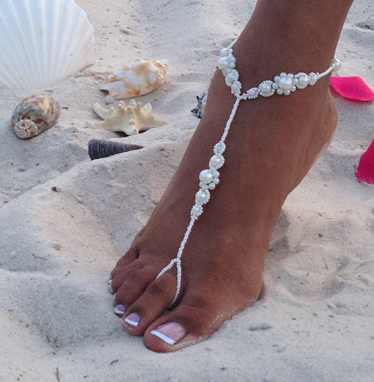 Barefoot Sandals Wedding: Pearl Bridal Barefoot Sandals Wedding Barefoot Sandals Beach