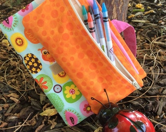 Kids Compact Art Journal Cover with Pencil Case (A5 size)