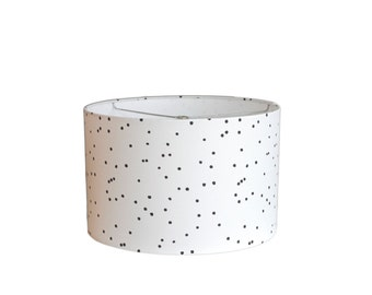 Modern Lamp Shade - Constellations - Black and White