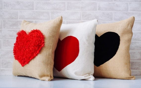 Valentine's Day, houseware pillow, to add some love and hearts to your farmhouse decor