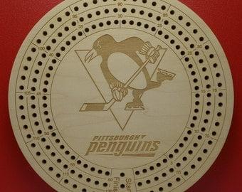 Pittsburg Penguins Cribbage Board