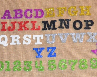 Glitter Foam Numbers (0 - 9) in 12 colors for Christina