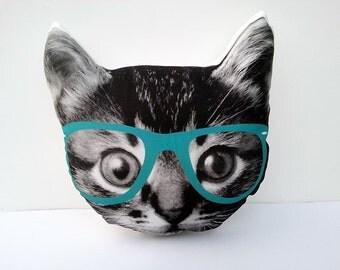 Cat Pillow, Kitten Pillow, Kitty Pillow, Cat Cushion, Kitty Photo Pillow, Cat Pillow, Cat Lover Gift, Hipster Cat, Pillow Gift, Christmas