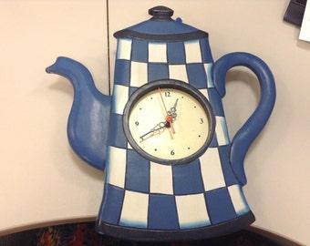 Blue Pitcher clock