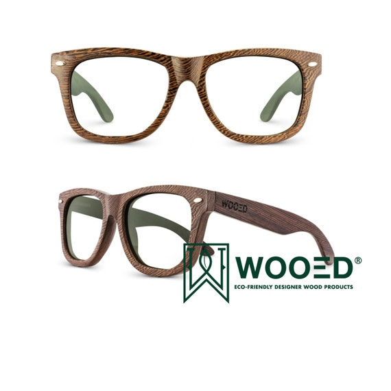 Items similar to Prescription Wood Bamboo Glasses, Wooden ...