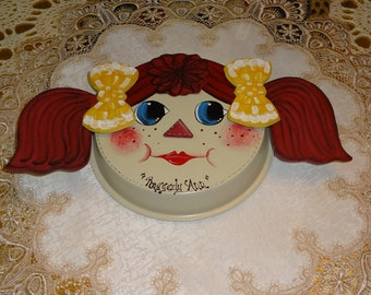 Raggedy Ann Cake Pan For Hanging,, Raggedy Ann Decor,, Kitchen Decor,, Wall Decor,,