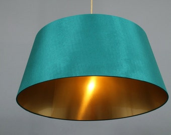 Ceiling Lamp turquoise/green/gold Metropol .