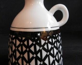 Upsala Ekeby KARLSKRONA old porcelain vase JARNESTAD 60s Sweden Design handpainted