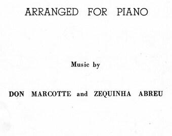"1954 Sheet Music, ""Tico-Tico"""
