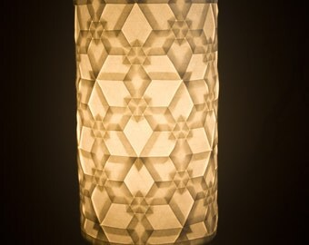 Origami Tessellation Luminary Lamp - Inverted Trianglular Flower Tiling