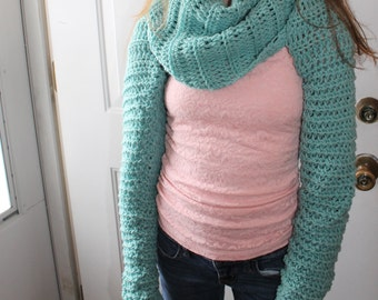 Wrap Around Shrug Sweater/Cowl-Multi look Shrug
