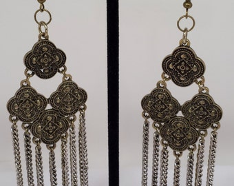 Antique gold medallion earrings.