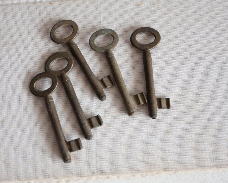 Brass Skeleton Keys Set Of 5 Rustic Home Decor Finds Steam